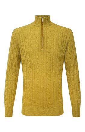 Мужской кашемировый свитер LORO PIANA желтого цвета, арт. FAD7358 | Фото 1