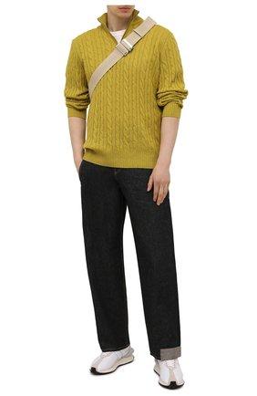 Мужской кашемировый свитер LORO PIANA желтого цвета, арт. FAD7358 | Фото 2