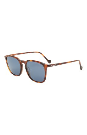 Мужские солнцезащитные очки MONCLER коричневого цвета, арт. ML 0150 52V 56 С/З ОЧКИ | Фото 1