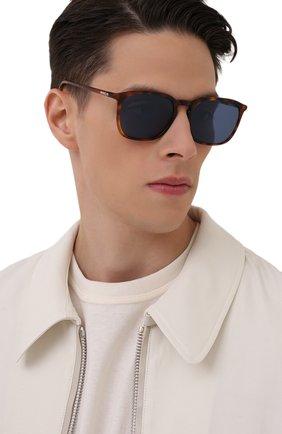 Мужские солнцезащитные очки MONCLER коричневого цвета, арт. ML 0150 52V 56 С/З ОЧКИ | Фото 2