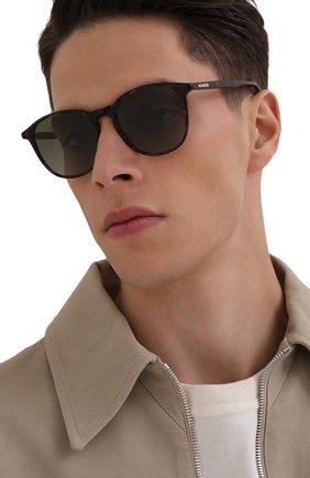Мужские солнцезащитные очки MONCLER коричневого цвета, арт. ML 0189 56R 52 С/З ОЧКИ | Фото 2