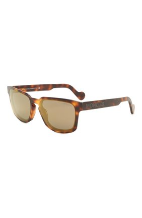 Мужские солнцезащитные очки MONCLER коричневого цвета, арт. ML 0171 52Q 58 С/З ОЧКИ | Фото 1