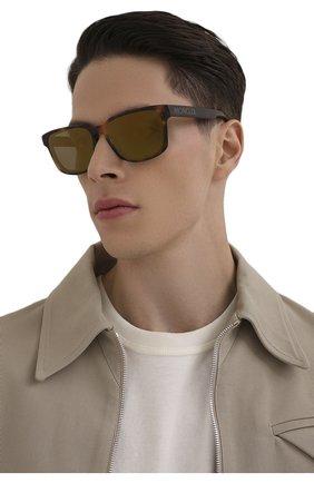 Мужские солнцезащитные очки MONCLER коричневого цвета, арт. ML 0171 52Q 58 С/З ОЧКИ | Фото 2