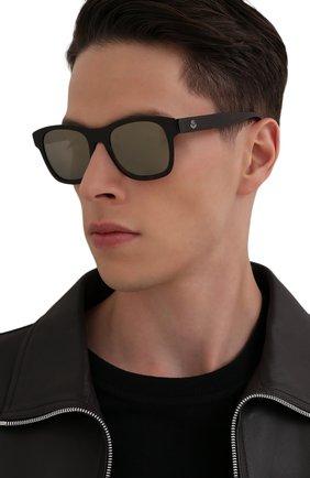Мужские солнцезащитные очки MONCLER темно-коричневого цвета, арт. ML 0192 56Q 53 С/З ОЧКИ | Фото 2