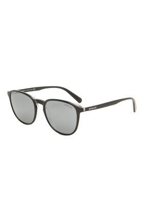 Мужские солнцезащитные очки MONCLER черного цвета, арт. ML 0190 03D 54 С/З ОЧКИ | Фото 1 (Тип очков: С/з; Очки форма: Квадратные; Оптика Гендер: оптика-мужское)