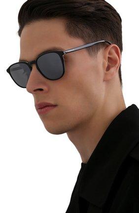 Мужские солнцезащитные очки MONCLER черного цвета, арт. ML 0190 03D 54 С/З ОЧКИ | Фото 2 (Тип очков: С/з; Очки форма: Квадратные; Оптика Гендер: оптика-мужское)