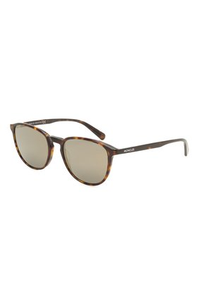 Мужские солнцезащитные очки MONCLER коричневого цвета, арт. ML 0190 56Q 54 С/З ОЧКИ | Фото 1