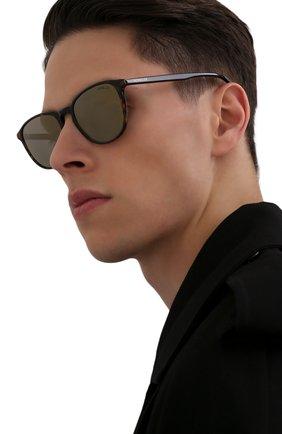 Мужские солнцезащитные очки MONCLER коричневого цвета, арт. ML 0190 56Q 54 С/З ОЧКИ | Фото 2