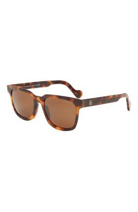 Мужские солнцезащитные очки MONCLER коричневого цвета, арт. ML 0174 52H 57 С/З ОЧКИ | Фото 1