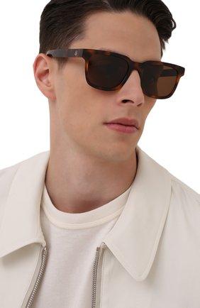 Мужские солнцезащитные очки MONCLER коричневого цвета, арт. ML 0174 52H 57 С/З ОЧКИ | Фото 2