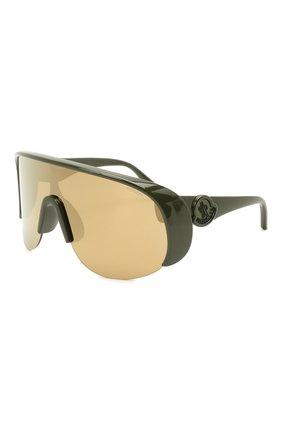 Мужские солнцезащитные очки MONCLER хаки цвета, арт. ML 0202 96G 00 С/З ОЧКИ | Фото 1