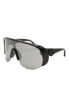 Мужские солнцезащитные очки MONCLER черного цвета, арт. ML 0202 01A 00 С/З ОЧКИ | Фото 1