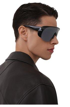 Мужские солнцезащитные очки MONCLER черного цвета, арт. ML 0202 01A 00 С/З ОЧКИ | Фото 2