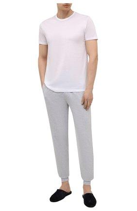 Мужская хлопковая футболка ERMENEGILDO ZEGNA белого цвета, арт. N2M200070   Фото 2