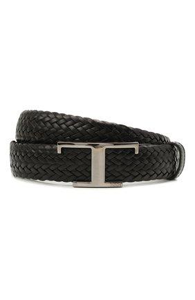 Мужской кожаный ремень TOD'S черного цвета, арт. XCMCQR52100Q1W | Фото 1