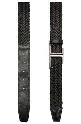 Мужской кожаный ремень TOD'S черного цвета, арт. XCMCQR52100Q1W | Фото 2