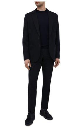 Мужские замшевые ботинки SANTONI темно-синего цвета, арт. MGDG1782300TKSVUU60 | Фото 2