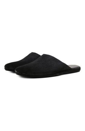 Мужского замшевые домашние туфли SANTONI темно-синего цвета, арт. PMXXA1644XXX1SVUU60 | Фото 1