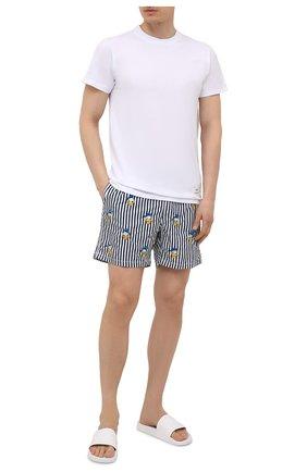 Мужские плавки-шорты MC2 SAINT BARTH темно-синего цвета, арт. STBM GUSTAVIA EMBR0IDERY/GUS0007 | Фото 2