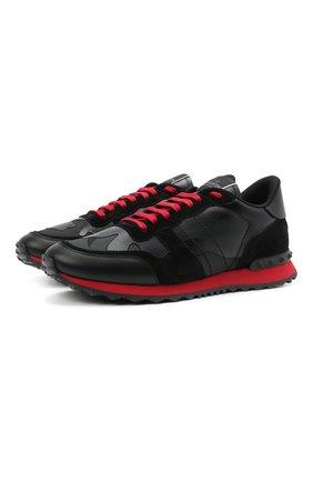 Мужские комбинированные кроссовки rockrunner VALENTINO черного цвета, арт. WY2S0723/NSD | Фото 1