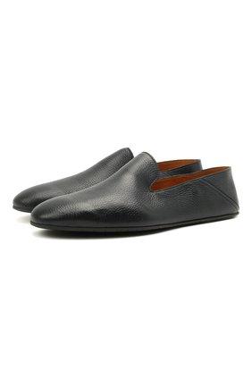 Мужского кожаные домашние туфли MAGNANNI темно-синего цвета, арт. 22674/CIERV0 | Фото 1