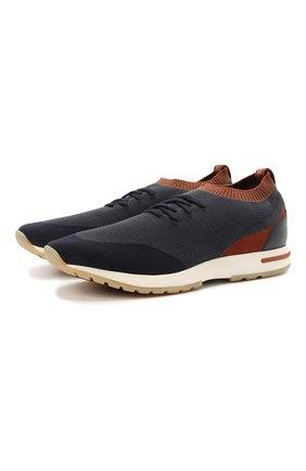 Мужские текстильные кроссовки 360 lp flexy walk LORO PIANA синего цвета, арт. FAL7942 | Фото 1