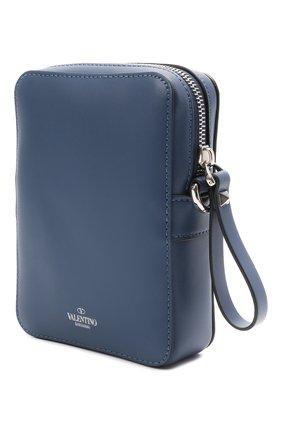 Мужская кожаная сумка VALENTINO темно-синего цвета, арт. WY2B0943/WJW   Фото 3