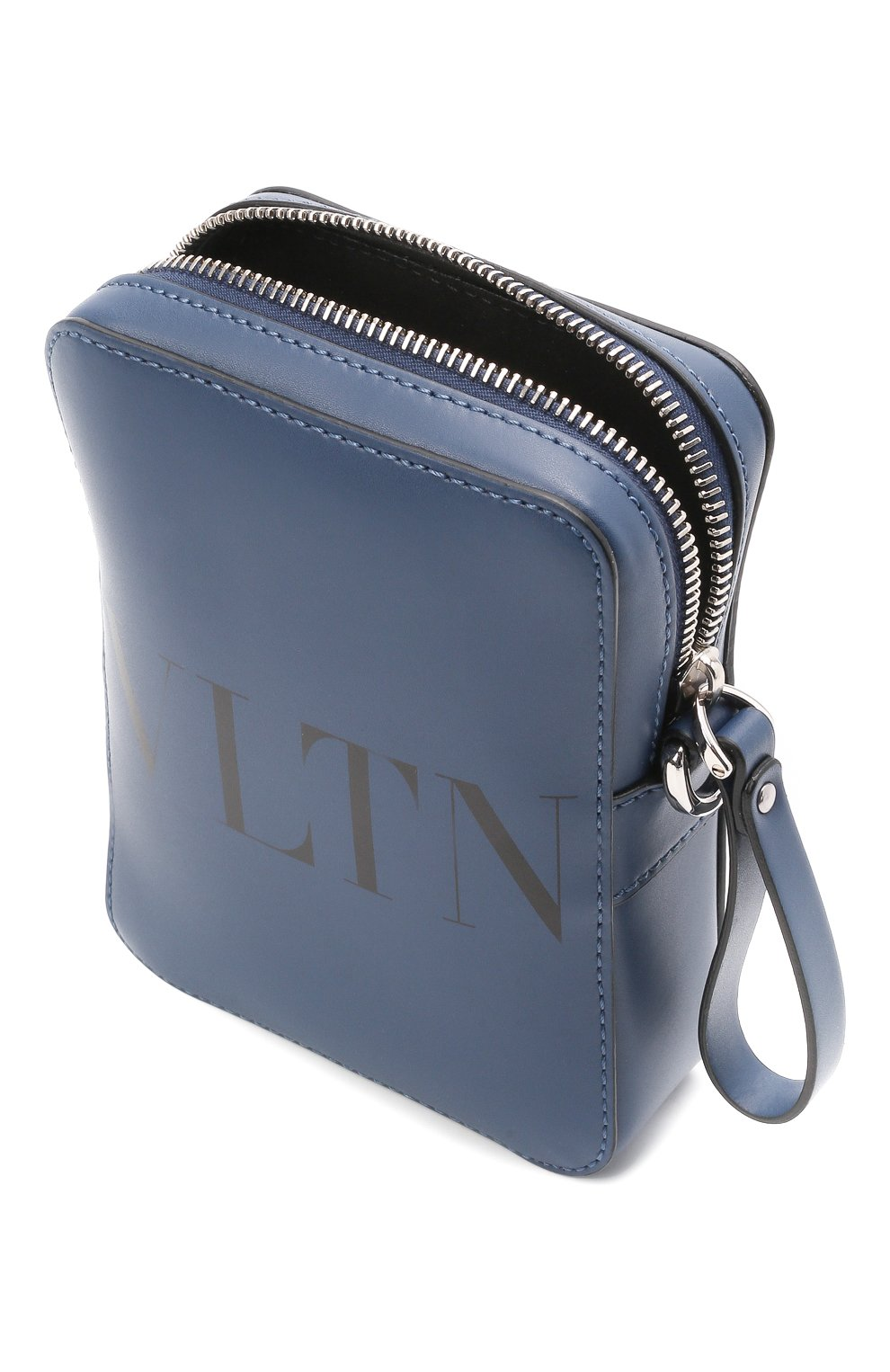 Мужская кожаная сумка VALENTINO темно-синего цвета, арт. WY2B0943/WJW   Фото 4