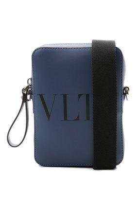 Мужская кожаная сумка VALENTINO темно-синего цвета, арт. WY2B0943/WJW   Фото 5
