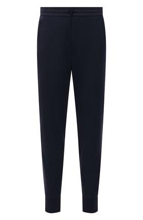 Мужские джоггеры Y-3 темно-синего цвета, арт. FN3386/M | Фото 1 (Длина (брюки, джинсы): Укороченные; Стили: Спорт-шик; Кросс-КТ: Спорт; Материал внешний: Синтетический материал)