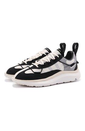 Мужские текстильные кроссовки shiku run Y-3 черно-белого цвета, арт. FZ4321/M | Фото 1 (Материал внутренний: Текстиль, Натуральная кожа; Стили: Спорт; Подошва: Массивная; Материал внешний: Текстиль)