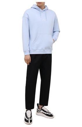 Мужские текстильные кроссовки shiku run Y-3 черно-белого цвета, арт. FZ4321/M | Фото 2 (Материал внутренний: Текстиль, Натуральная кожа; Стили: Спорт; Подошва: Массивная; Материал внешний: Текстиль)