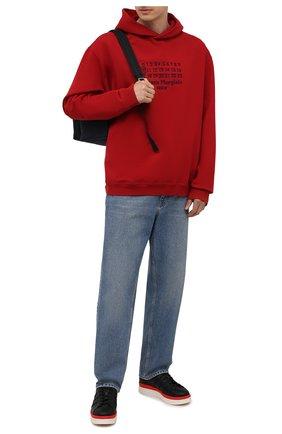 Мужские кожаные кеды hicho Y-3 черного цвета, арт. FZ4338/M | Фото 2 (Материал внутренний: Натуральная кожа, Текстиль; Подошва: Массивная)