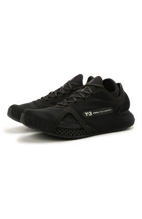 Мужские текстильные кроссовки runner 4d io Y-3 черного цвета, арт. FZ4502/M | Фото 1 (Материал внешний: Текстиль; Стили: Спорт; Материал внутренний: Текстиль; Подошва: Массивная)
