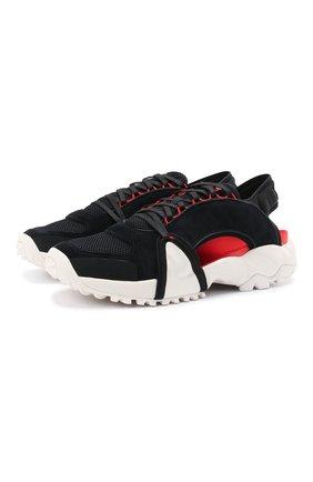 Мужские комбинированные сандалии notoma Y-3 черного цвета, арт. FZ4510/M | Фото 1 (Материал внутренний: Текстиль; Материал внешний: Текстиль)
