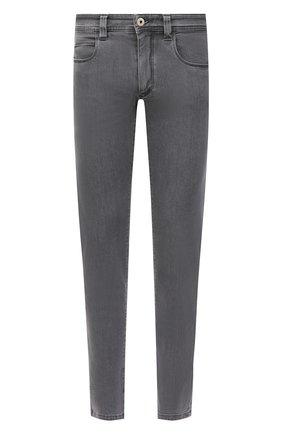 Мужские джинсы LORO PIANA серого цвета, арт. FAI0989 | Фото 1 (Длина (брюки, джинсы): Стандартные; Стили: Кэжуэл; Силуэт М (брюки): Прямые; Материал внешний: Хлопок; Кросс-КТ: Деним)