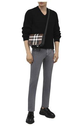 Мужские джинсы LORO PIANA серого цвета, арт. FAI0989 | Фото 2 (Длина (брюки, джинсы): Стандартные; Стили: Кэжуэл; Силуэт М (брюки): Прямые; Материал внешний: Хлопок; Кросс-КТ: Деним)