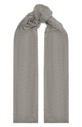 Женский кашемировый шарф hanko BALMUIR серого цвета, арт. 2110003   Фото 1