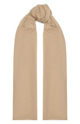 Женский кашемировый шарф hanko BALMUIR бежевого цвета, арт. 2110003   Фото 1