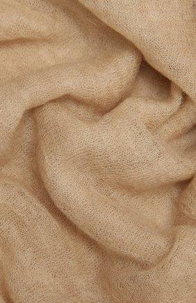Женский кашемировый шарф hanko BALMUIR бежевого цвета, арт. 2110003   Фото 2