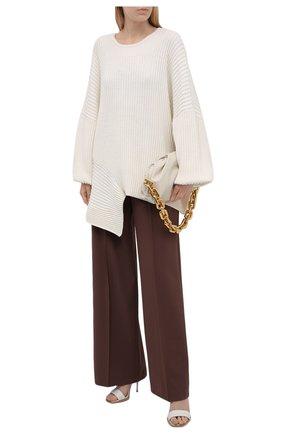 Женский хлопковый свитер RUBAN кремвого цвета, арт. RPS21-40.1.64.10   Фото 2