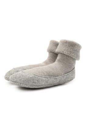 Женские шерстяные носки FALKE серого цвета, арт. 47571 | Фото 1