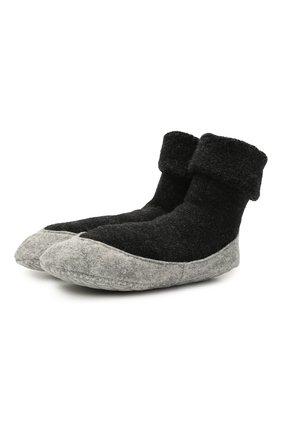 Женские шерстяные носки FALKE темно-серого цвета, арт. 47571 | Фото 1