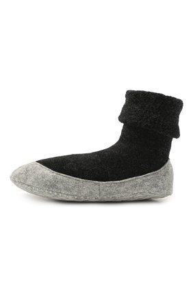 Женские шерстяные носки FALKE темно-серого цвета, арт. 47571 | Фото 2