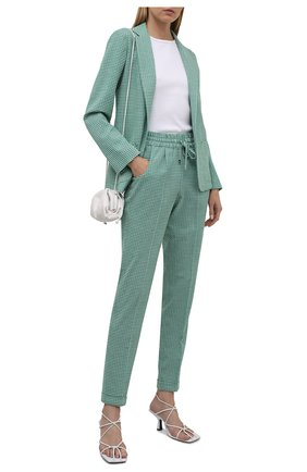 Женский шерстяной жакет KITON светло-зеленого цвета, арт. D48539K09T79   Фото 2