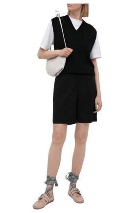Женские кожаные балетки MIU MIU бежевого цвета, арт. 5F466A/H27   Фото 2