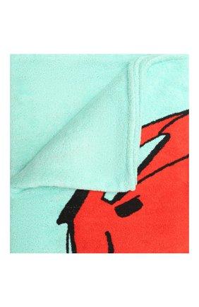 Женское хлопковое полотенце BOTTEGA VENETA бирюзового цвета, арт. 656910/3V106   Фото 1