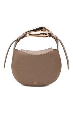 Женская сумка kiss CHLOÉ темно-бежевого цвета, арт. CHC21US350E48   Фото 1