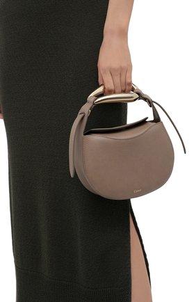 Женская сумка kiss CHLOÉ темно-бежевого цвета, арт. CHC21US350E48   Фото 2