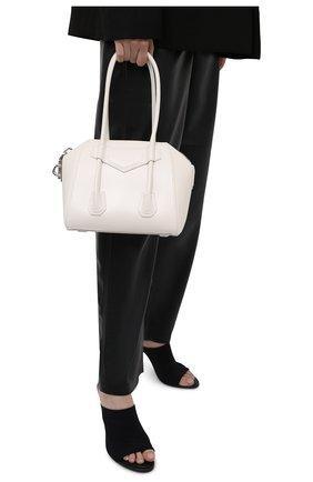 Женская сумка antigona lock mini GIVENCHY белого цвета, арт. BB50GWB00D | Фото 2
